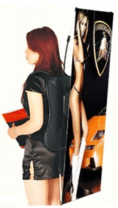 Backpack x-banner