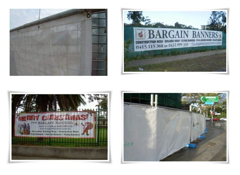 construction mesh fence banners